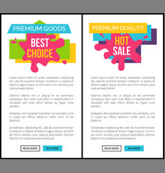 hot sale for premium quality goods internet pages vector image vector image