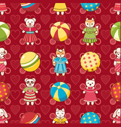 Kid toy seamless pattern design element vector