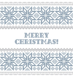Knited Christmas background vector image