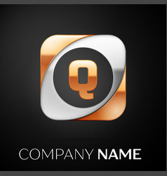 Letter q logo symbol in the colorful square on vector