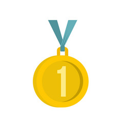 medal for first place icon flat style vector image