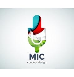 Microphone logo business branding icon vector image