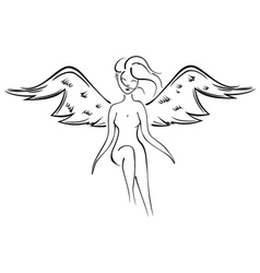 Naked fairy vector image