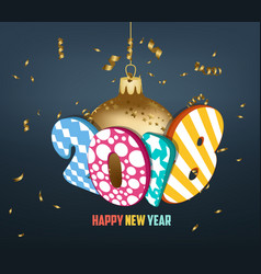 New year 2018 colorful design vector