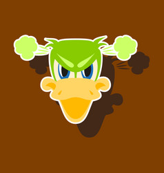 Paper sticker on theme animal evil duck vector