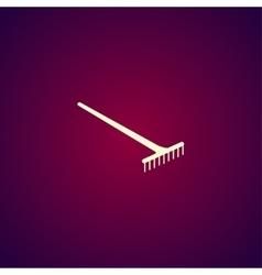 Rake Icon concept for design vector image vector image