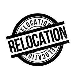 Relocation rubber stamp vector