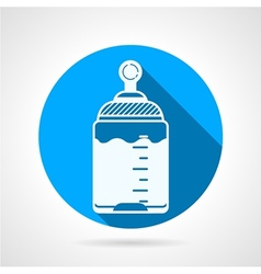 Round blue icon for baby bottle vector image