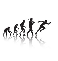 The evolution silhouette people Darwin s theory vector image