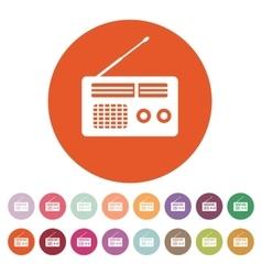 The receiver icon Radio symbol Flat vector image vector image