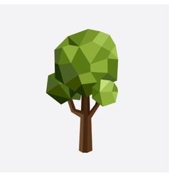 Triangle polygonal tree silhouette eco vector