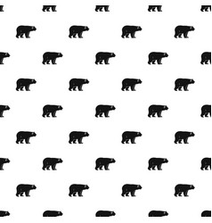 Wild bear pattern vector