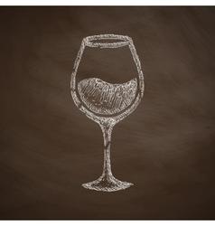 Wineglass icon vector