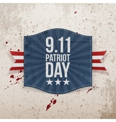 Eleventh september patriot day national tag vector
