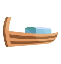 Wooden boat icon cartoon style vector