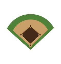 Baseball field diamond form icon graphic vector