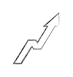 Arrow up increase icon vector