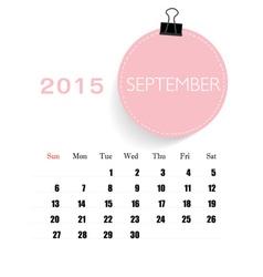 2015 calendar monthly calendar template for vector image