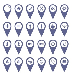 Unique flat icons set vector