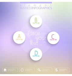 Numbered circles infographic on blurred background vector