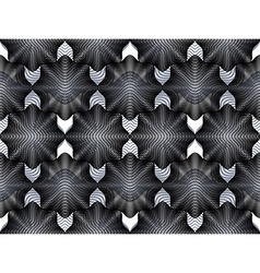 Geometric black and white stripy overlay seamless vector