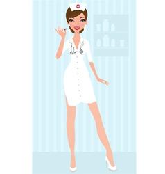 Sexy nurse vector