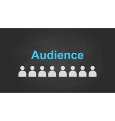 Audience text concept with user icon symbol vector