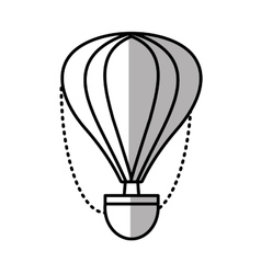 Airballoon recreation vacation travel line shadow vector