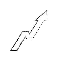 Arrow up increase icon vector