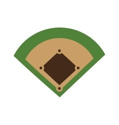 Baseball field diamond form icon graphic vector