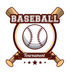 baseball sport tournament poster vector image