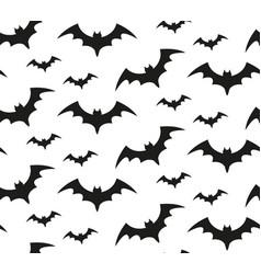 bat silhouette seamless pattern halloween vector image