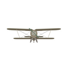 biplane vintage airplane plane old retro vector image