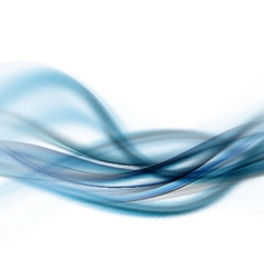 Blue Waved Background vector image vector image