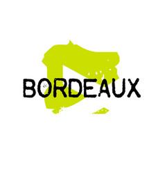 Bordeaux sticker stamp vector