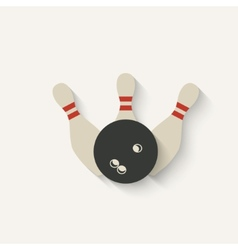 bowling sport icon vector image