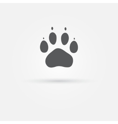 Cat paw - footprint icon vector image