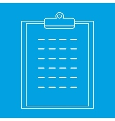 Checklist thin line icon vector