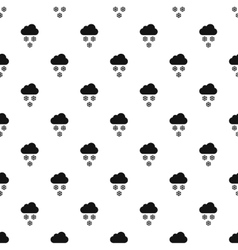 Clouds and snow pattern simple style vector