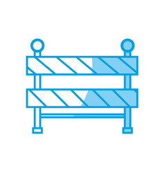Construction barrier icon vector