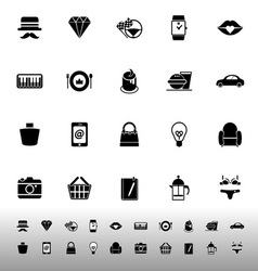 Department store item category icons on white vector