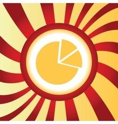 Diagram abstract icon vector