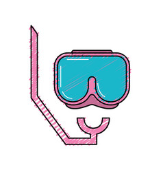 Diving mask to be underwater adventure vector