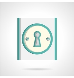 Door lock flat icon vector
