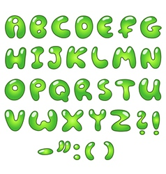 eco bubble alphabet vector image vector image