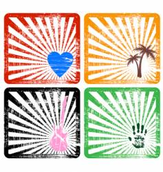 four frames vector image