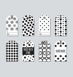 gift tags and cards set with hand drawn elements vector image vector image