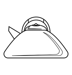 Heating kettle icon outline style vector