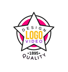 logo design template for cinema or video company vector image vector image