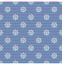 Nautical pattern with wheels vector image vector image